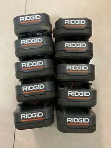 10x Genuine RIDGID R840086 18V HYPER LI-ION Batteries HIGH CAPACITY 2.0Ah