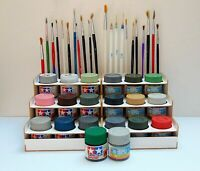 Paint Bottle Rack Modular Organizer made of cardboard  for TAMIYA-GUNZE 18 Pots