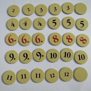 Die Siedler von Catan 30 Zahlenchips für das Spiel