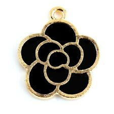 10pcs Gold Flower Knot Beads Charms Enamel Pendant Fit DIY Bracelet Findings