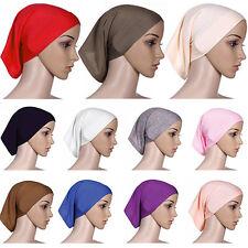 Mujeres Bufanda de Cabeza Hijab musulmán islámico Sombrero Gorra Cabeza Cubierta