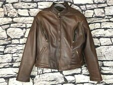 US MADE CO Thick Brown Leather Vented Motorcycle / Riding Jacket Men's Size M