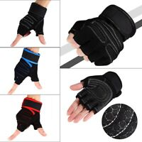 2 Pcs Weight Lifting Gym Training Fitness Gloves Workout Exercise Wrist Wraps