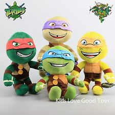 4X TMNT Teenage Mutant Ninja Turtles Stuffed Plush Soft Doll Toy 12'' Teddy Gift