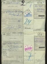 BELGIUM RAILWAY PARCELS 1960s SURCHARGES on GREEN DC1985 PACKET POST 3 DIFFERENT