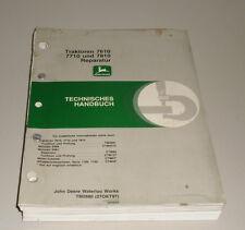 Werkstatthandbuch John Deere Traktor 7610 / 7710 / 7810 Reparatur Stand 11/1997