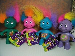 "GLEEPS SET w/HANG TAGS - 3"" Russ Troll Dolls - NEW IN ORIGINAL BAGS"