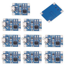 10pcs Micro USB Charger Module 5V 1A 18650 Lithium Battery Charging Board TP4056