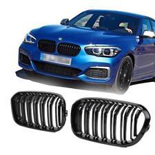 BMW F20 F21 LCI facelift 2015> gloss black kidney front grilles twin double slat