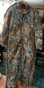 Vtg XL Reg 46/48 Wall's Blizzard-Pruf Realtree Tree Bark Camo Lined Suit