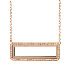 """ORIGAMI OWL ROSE GOLD BAR LIVING LOCKET WITH SWAROVSKI CRYSTALS 16-18"""" CHAIN"""