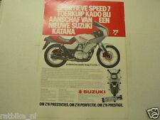 A288-SUZUKI KATANA GS550/650 EM SPEED 7 SCHERM ADVERTISEMENT ADD MOTORCYCLE