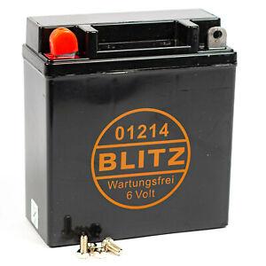 Roller Batterie 01214 Gel 6V Deckel Blitz 0092030