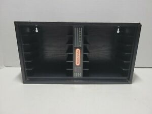 Super Nintendo SNES 12 Storage Organizer Shelf Holder Wall Mountable Wood black