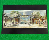 Disney Frameable Postcard Frontierland Entrance Artist Rendition Disneyland