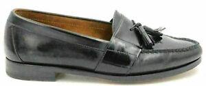 Cole Haan Men Slip On Moc Toe Tassel Loafers Size US 9M Black Leather