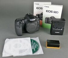 CANON EOS 60D SLR 18.0 MP DIGITAL CAMERA BODY & INSTRUCTIONS