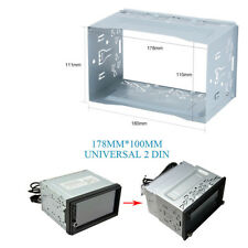 Car 2 Din Stereo Radio DVD Player Metal Frame Install Dash Bezel Trim Kit No Gap