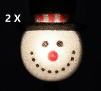 2X CHRISTMAS HOLIDAY SNOW MAN OUTDOOR LIGHT COVER PORCH PATIO FROSTY Yard Decor
