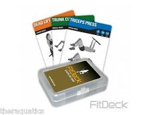 FITDECK EXERCISE BAR 26 Cards Lift Exercises Stretches Boot Camp Work Out 01274
