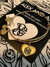 Alex and Ani Path of Life Shiny Gold HEART ~ Strength   Motivation   Knowledge