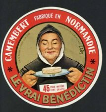 Original French Camembert Cheese Label, Monk, 184