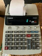 Cannon P170-Dh Desktop Calculator 12 Digit Clock & Calender Powers on
