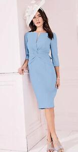 kaleidoscope Large Bow Detail Dress Blue Size 16 NWF