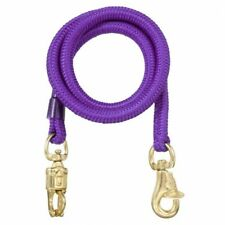 "Purple 60"" Safety Shock Bungee Braided Poly Rope Cross Tie Horse Tack"
