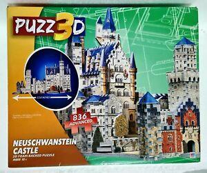 MB PUZZ3D 3D Puzzle 🧩 NEUSCHWANSTEIN CASTLE 🏰 836 Pieces / 38 x 27 x 57.5cm