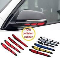 4Pcs Car Door Anti-collision Strip Edge Guard Scratch Protector Trim Sticker Red