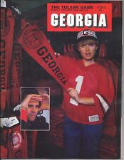 1985 Georgia vs Tulane original college football program