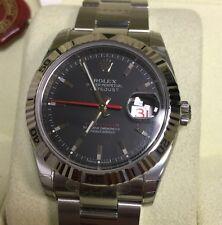 Rolex Turn-O-Graph Mens Watch 116264 Thunderbird Factory stickers mint