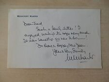 "Millicent Martin Autographed 7"" X 5"" Personal Stationary from Estate"