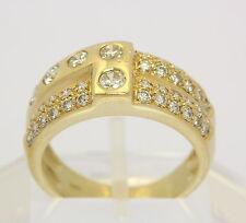 ♦ Diamant Ring in aus 14kt Gelb Gold mit Brillant Brilliant Brillanten Brilliant
