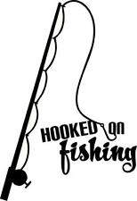 Hooked on fishing decal auto window decal (Removable Vinyl)