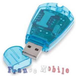 USB Cle Lecteur de Carte Téléphone Standard SIM GSM SMS Pour PC Laptop