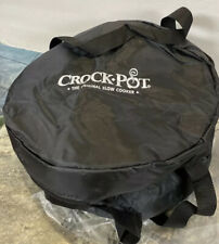"""Rival 7 Qt Crock Pot Oval Travel Insulated Thermal Bag Case Cover 15"""" Cook Carry"""