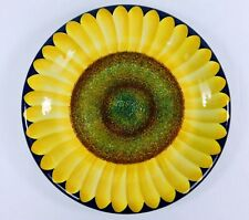"""CAROL ENDRES Pure Art Sunflower Plate 11"""" PERFECT CONDITION!"""