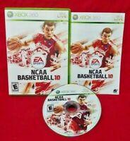 NCAA Basketball 10 - Microsoft Xbox 360 Rare Game -Tested Last NCCA Made 4 360