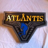 Stargate Atlantis 3D routed  wood bar prop sci fi custom sign plaque Custom New