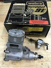 Webra Speed 91RC Nitro Engine w/ Dynamix Carb - NEW Open BOX Vintage