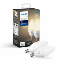 Philips - Hue White E12 Bluetooth Smart LED Decorative Candle Bulb (2-Pack)