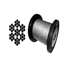 """7 x 7 Galvanized Aircraft Cable Wire Rope 1/16"""" - 500 ft"""