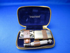 FEATHER VTG HIGH CLASS Safety Razor 1964 Made In Japan USED NEAR MINT CONDITION