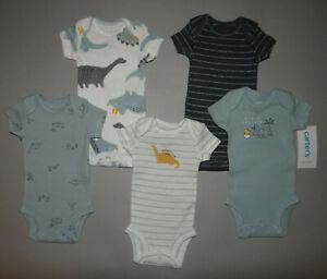 NWT, Baby boy clothes, Preemie, Carter's 5 piece bodysuit set//     1/2 OFF~