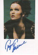 "Tarja Turunen ""Nightwish"" Autogramm signed 10x15 cm Karteikarte mit Magazinbild"