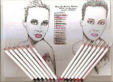 5pc New All Natural Eyeliner-Lipliner Eye Lip Liner Pencil Choose from 14 Colors