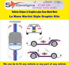 PORSCHE Boxster 987 2005-12 Le Mans Martini Race Rally Logo Graphics Kit 5