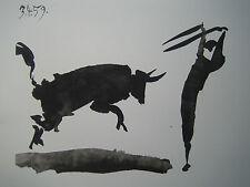 "PICASSO PABLO (1881-1973) AFFICHE ART     ""POSE DE BANDERILLES""  TOROS Y TOREROS"